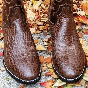 Tony Lama Shoes - ⭐NWOT TONY LAMA Brown Reptile Cowboy Boots 9.5